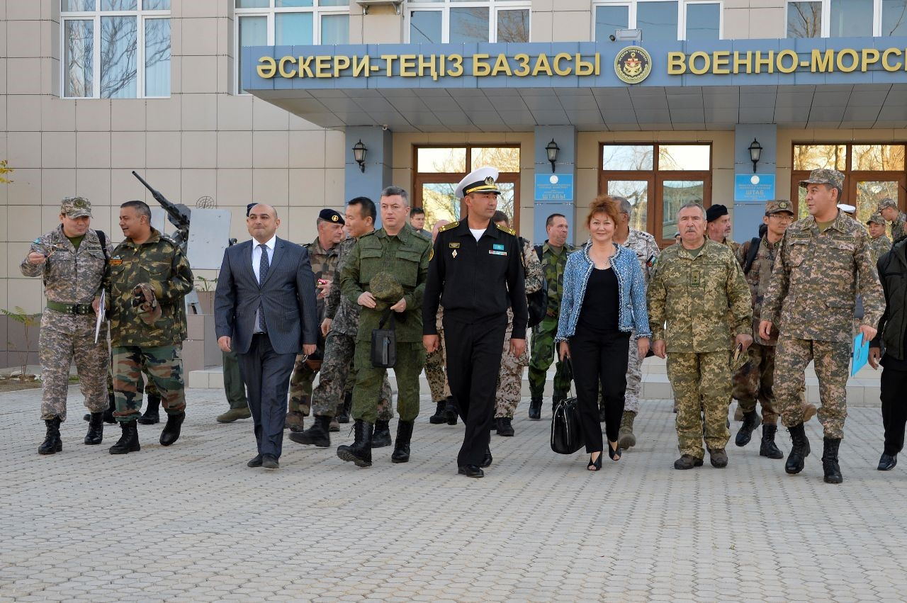 On October 22-23, 2019, in Aktau, in accordance with the work plan of the CICA Secretariat, a study visit of representatives of the CICA member states and observers to the naval base of the Armed Forces of the Republic of Kazakhstan took place.