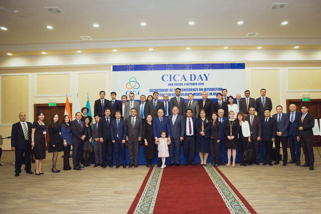 On October 4, 2019 at Radisson hotel in Nur-Sultan, the CICA Day reception was held on the occasion of the 27th anniversary of the Conference on Interaction and Confidence Building Measures in Asia.