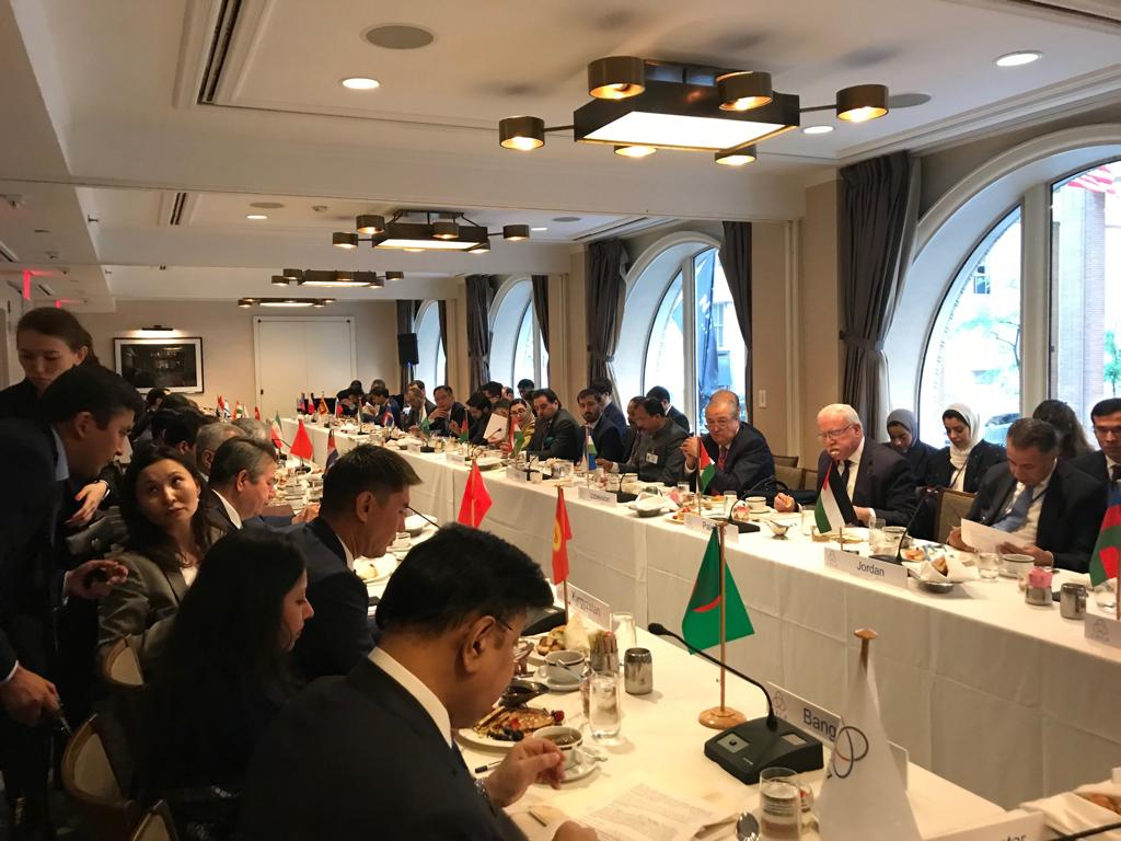On  September 23, 2019, an Informal Meeting of the CICA Foreign Ministers was convened in New York city on the sidelines of the 74th Session of the United Nations General Assembly.