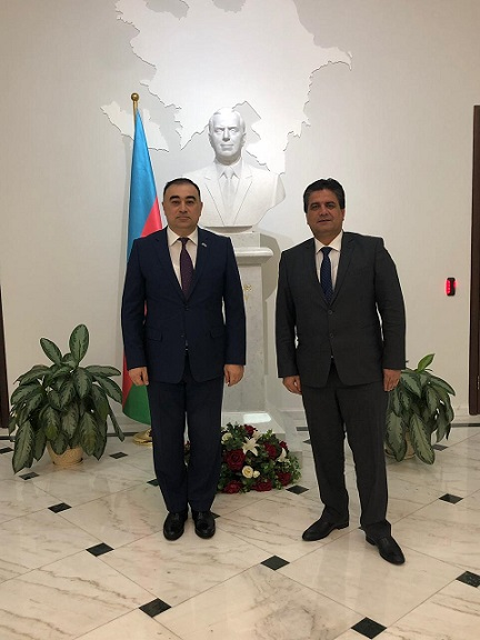 Mr. Habibullo Mirzozoda, Executive Director of the CICA Secretariat, had a meeting with Mr. Rashad Mammadov, Ambassador of the Republic of Azerbaijan on 15 April 2019.