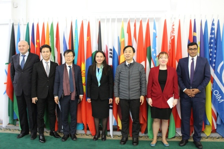 On January 15, 2019, a delegation of the Cooperation Forum Central Asia-Republic of Korea, headed by Executive Vice-President of Korea Foundation - Executive Director Amb. Kim Seong-in, visited the CICA Secretariat.