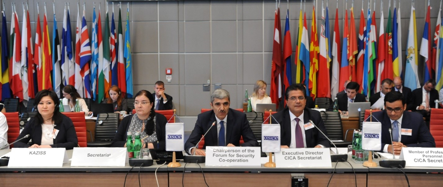 On 3 July 2019, at the invitation of Tajik Chairmanship of the OSCE Forum for Security Cooperation and with Chairman