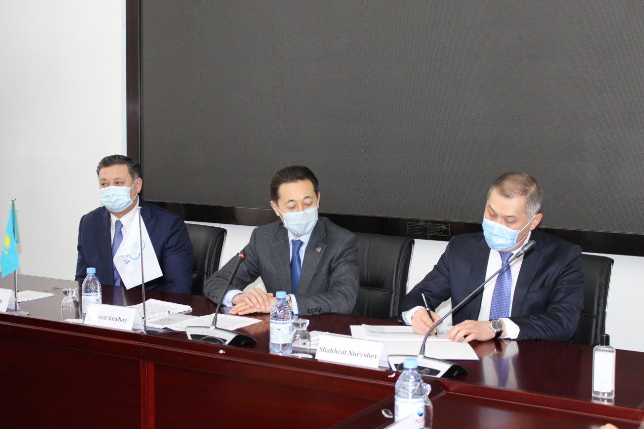Aide to the President Mr. Murat Nurtleu as well as First Deputy Foreign Minister Mr. Shakhrat Nuryshev paid a visit to the headquarters of the CICA Secretariat on February 3, 2021, as part of their mandate given by President of Kazakhstan Mr. Tokayev.