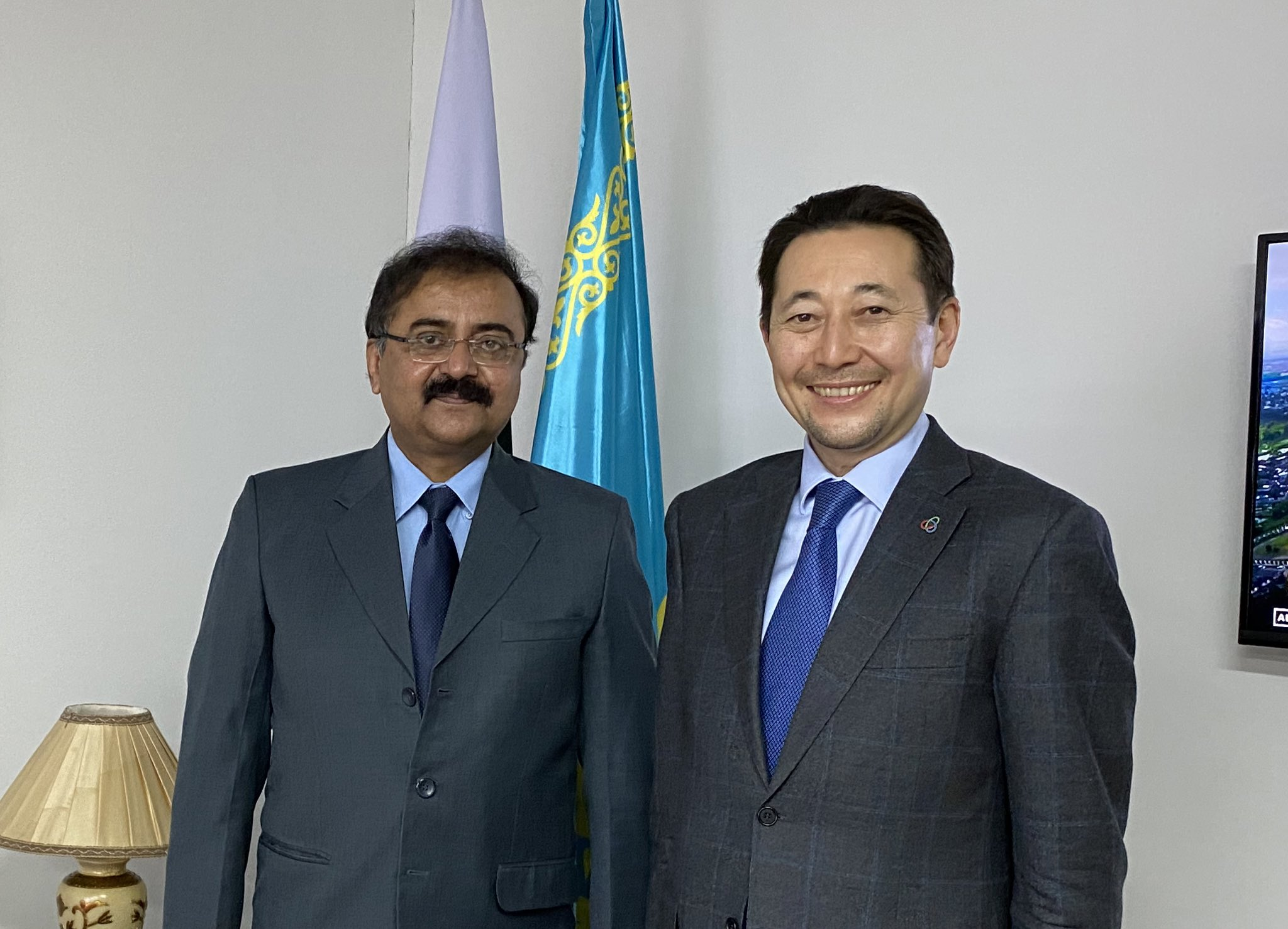 Executive Director of the CICA Secretariat Kairat Sarybay and Ambassador of the Islamic Republic of Pakistan Dr. Sajjad Ahmed Seehar discussed opportunities for the increased cooperation within CICA at a warm and friendly meeting held in Nur-Sultan on February 03, 2021.