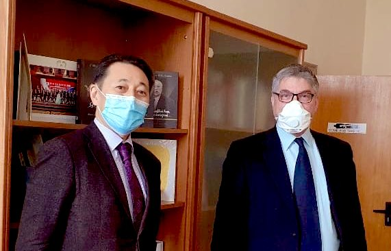 The CICA Secretariat Executive Director Ambassador Kairat Sarybay discussed the prospects of cooperation amongst the leading analytical centres on the platform of the Conference on Interaction and Confidence Building Measures in Asia (CICA) at the meetings with the Centre for East Asianand Shanghai Cooperation Organization Studies Director Dr. Alexander Lukin and the Supervisory Board Chairman of the Dialogue of Civilizations Research Institute Vladimir Yakunin, during his working visit to Moscow on 22 and 23 February 2021.