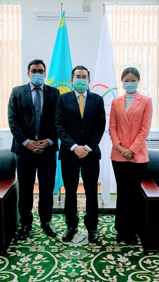 Deputy Executive Director of the CICA Secretariat Ms. Chi Fang and Minister-Counsellor of the Royal Thai Embassy Mr. Paradorn Rangsimaporn discussed Thailand's potential role in further advancing the CICA process and further institutionalization of the CICA at a warm and friendly meeting held in Nur-Sultan  on February 23, 2021